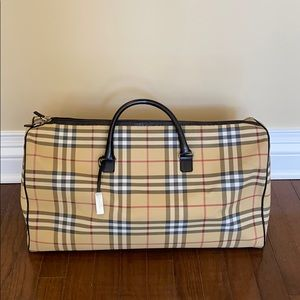 Burberry Checked Carry-On Duffel Bag